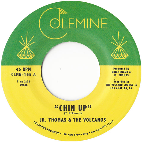 "<b>JR. THOMAS & THE VOLCANOS</b><br><i>Chin Up</i><br><font color=""FF0000"">Release Date: 9/21/2018</font>"