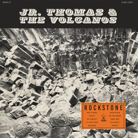 "<b>JR. THOMAS & THE VOLCANOS</b><br><i>Rockstone</i><br><font color=""FF0000"">Release Date: 10/19/2018</font>"