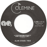 <b>ALAN EVANS TRIO</b><br><i>Authoritay</i>