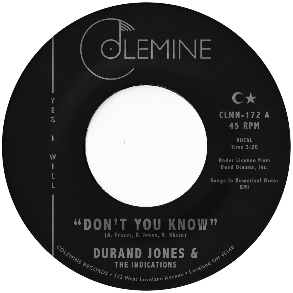 <b>DURAND JONES & THE INDICATIONS</b><br><i>Don't You Know</i>