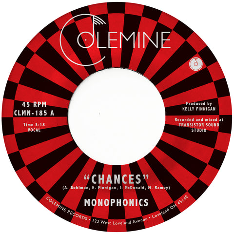 "<b>MONOPHONICS </b><br><i>Chances</i><br><span style=""color: #ff0000;"">Release Date: 2/7/20</span>"