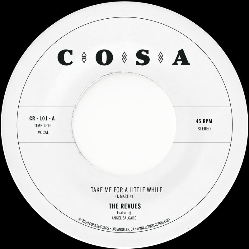 THE REVUES - Take Me For A Little While [Release Date: 6/25/21]