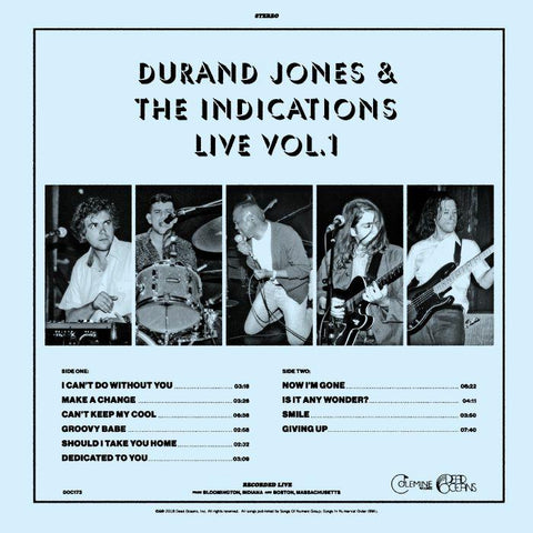 <b>DURAND JONES & THE INDICATIONS</b><br><i>Live Vol. 1</i>