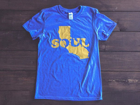<b>CALI SOUL T-SHIRT</b><br>Heather Royal Blue