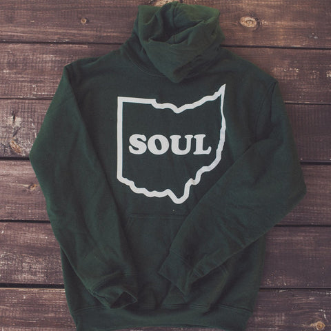 <b>OHIO SOUL HOODIE</b><br>Forest Green