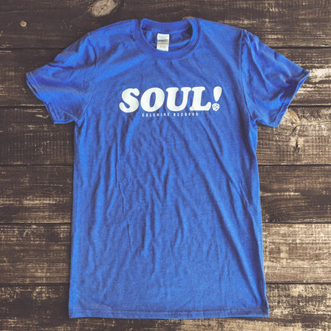 <b>SOUL! T-SHIRT</b><br>Heather Royal Blue