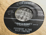 <b>DEROBERT & THE HALF-TRUTHS</b><br><i>Judgement</i>