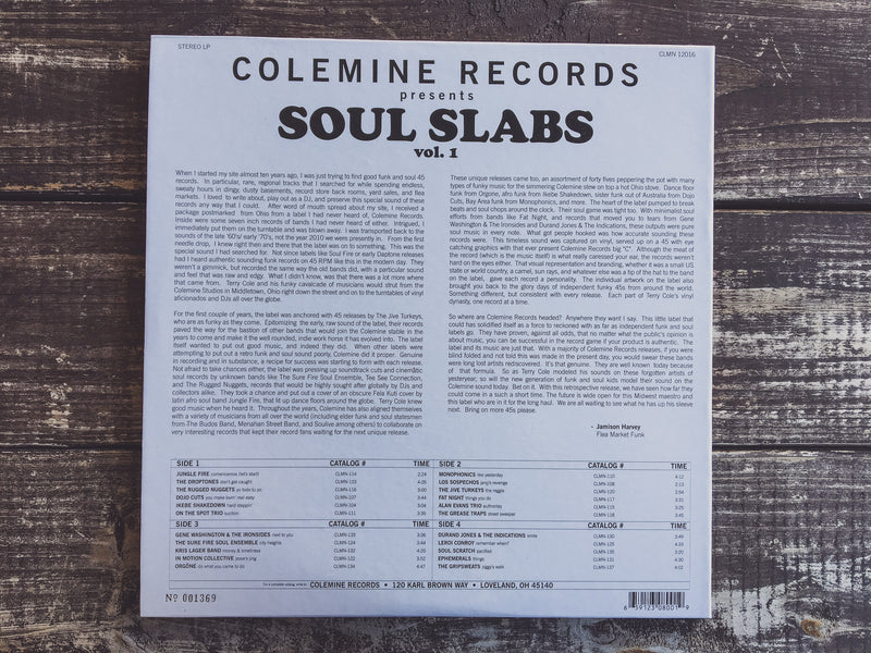 VARIOUS ARTISTS - Soul Slabs Vol. 1