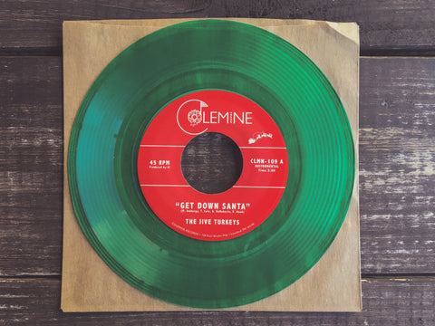 <b>THE JIVE TURKEYS</b><br><i>Get Down Santa</i> (green vinyl)<br><b>Limited to 300 copies</b>