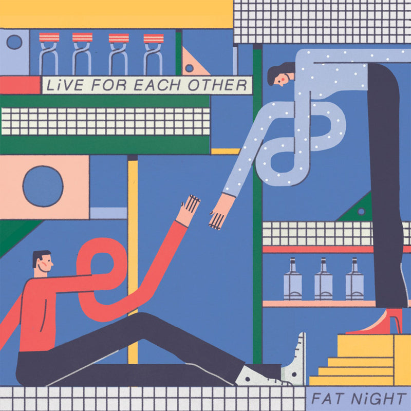FAT NIGHT - Live For Each Other [Blue & Yellow Vinyl]