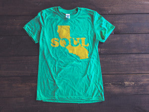 <b>CALI SOUL T-SHIRT</b><br>Heather Irish Green