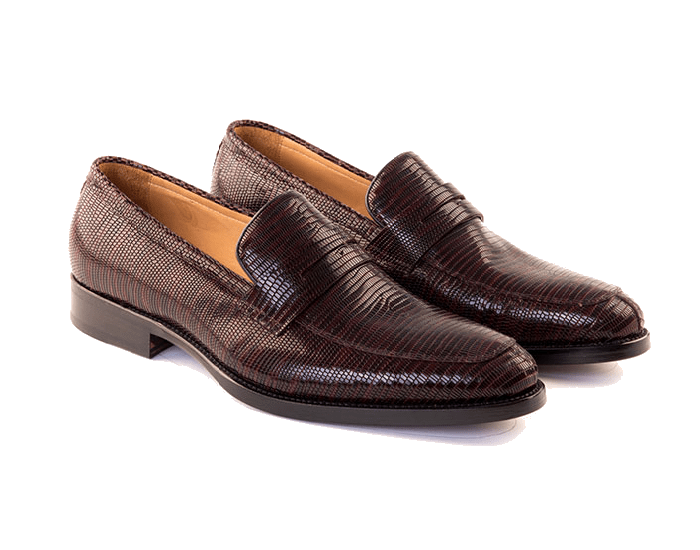 68d5b0fffd7 Giovanni - Mens Penny Loafer Shoe In Burgundy Calf Leather - Lussoti