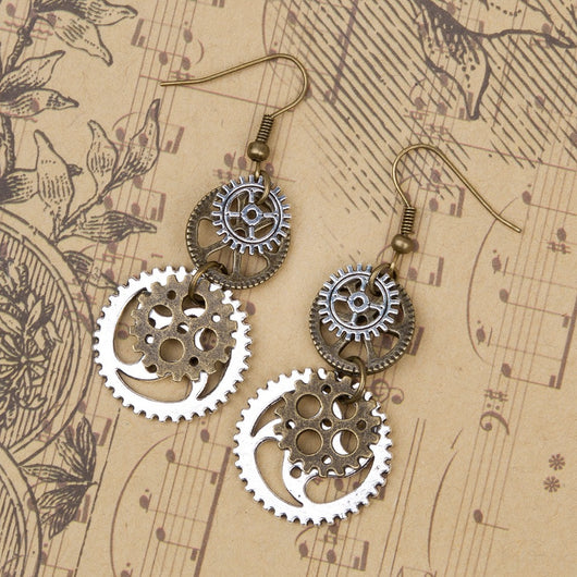 Binding Steampunk Earrings
