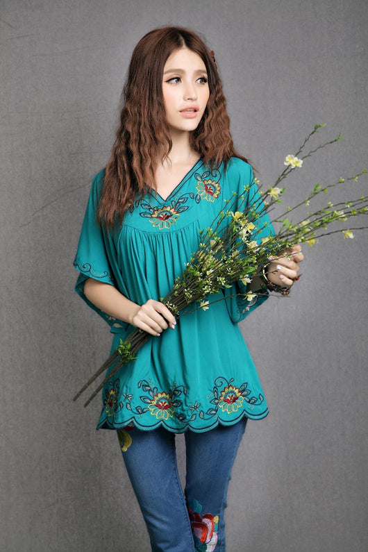 Boho Ornate Blouse (One Size)