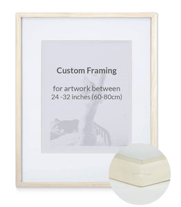 "Custom Framing - Contemporary - Large (24""-32"")"