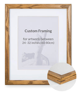 "Custom Framing - Decorative - Large (24""-32"")"