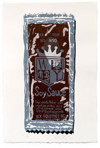 "Michael Angelis, ""Soy Sauce Limited"" - screenprint"