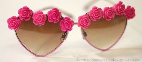 Handmade DIY Flower Sunglasses