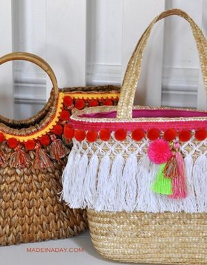 Handmade DIY Tassel Beach Bag
