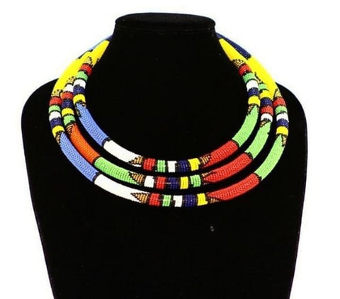 Unique Handmade Jewelry African Beaded Necklaces