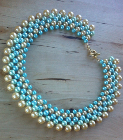 Handmade Pearl Statement Necklace