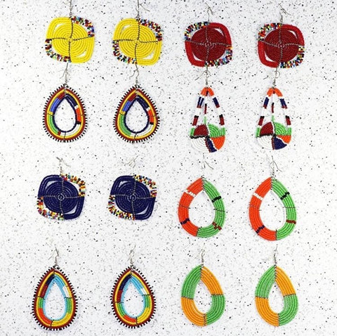 Unique Handmade Jewelry African Beaded Earrings