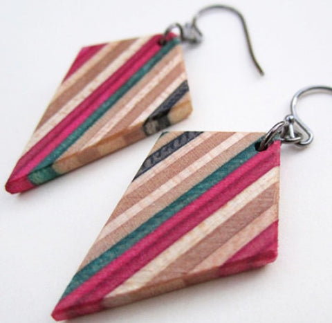 Unique Jewelry from Recycled Skateboards