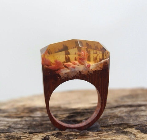 Unique Jewelry Resin Wooden Rings
