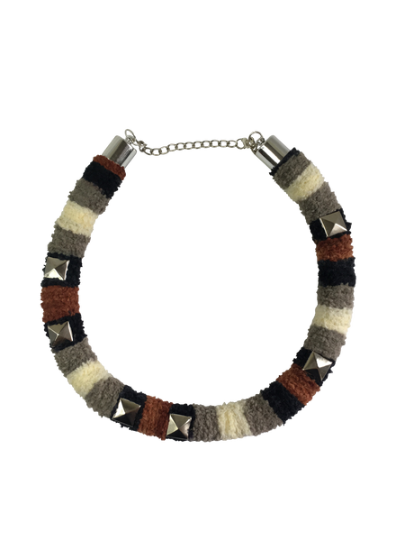 Textured Military Minimalist Necklace