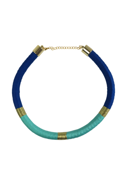 Turquoise and Blue Minimalist Necklace