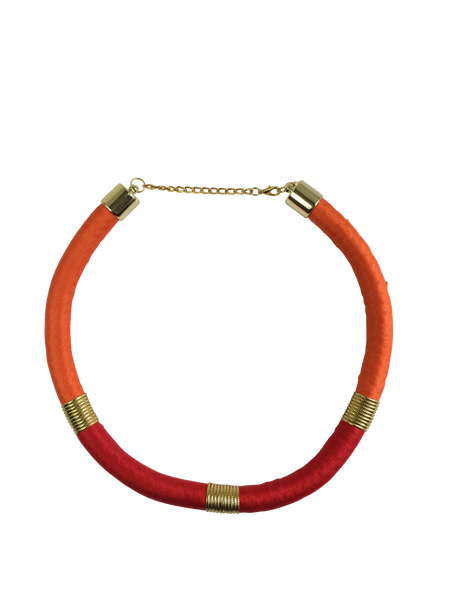 Orange and Red Minimalist Necklace