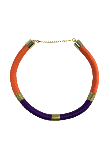 Orange and Purple Minimalist Necklace