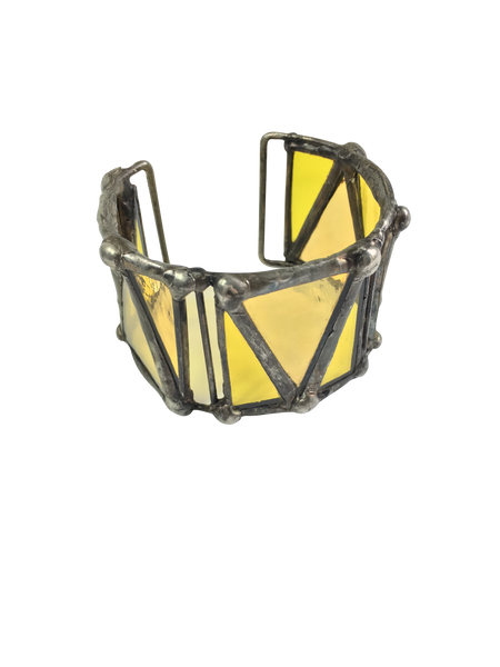 Yellow Glass Wide Bangle
