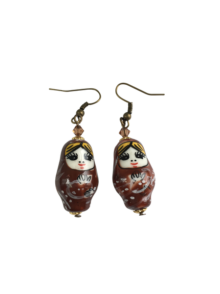 Ceramic Matryoshka Earrings