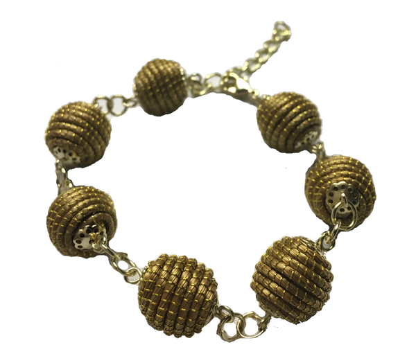 Golden Grass Ball Bracelet
