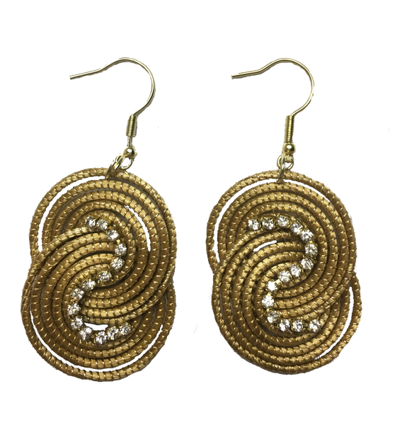 Golden Grass Unity Bling Earrings