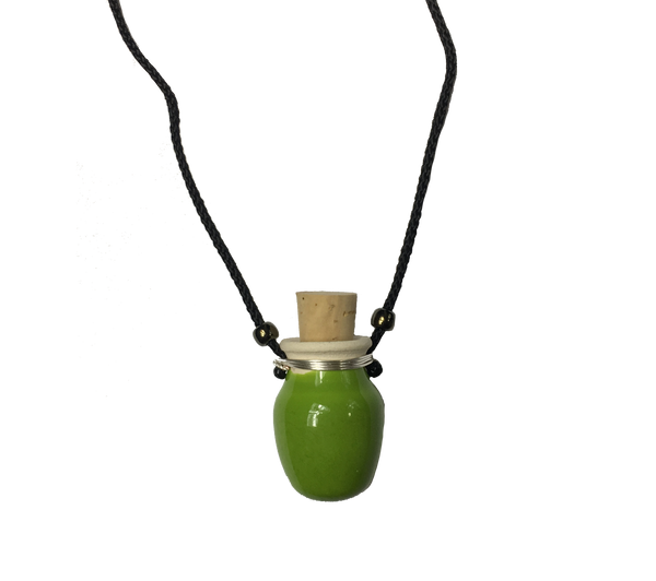 Green Ceramic Mini Pot Necklace