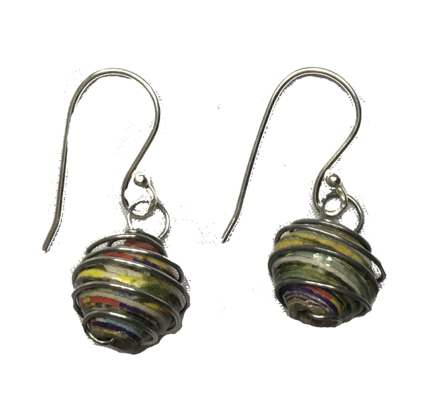 Recycled Paper Wire Wrapped Earrings