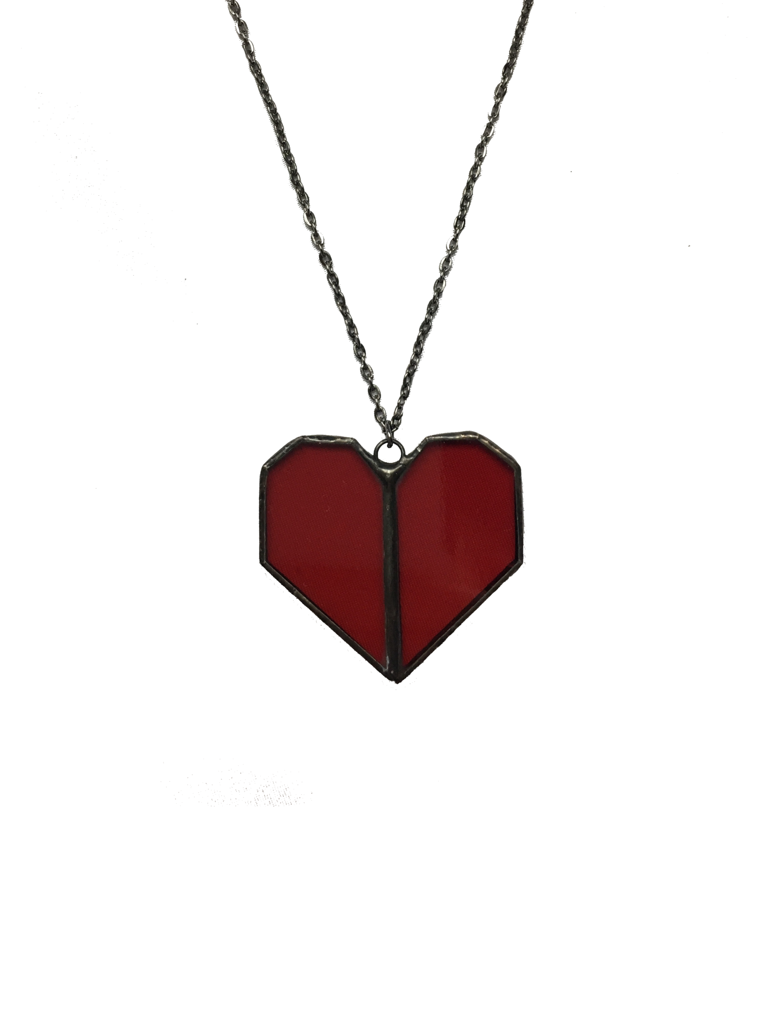 heart pendant asp red p crystal necklace