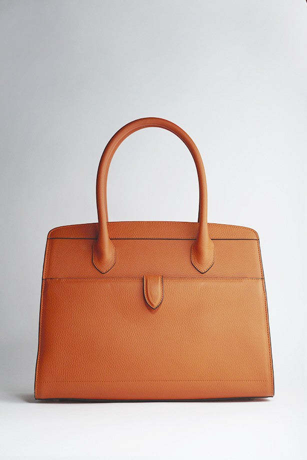 Sac Delage STELLA en Cuir grainé orange