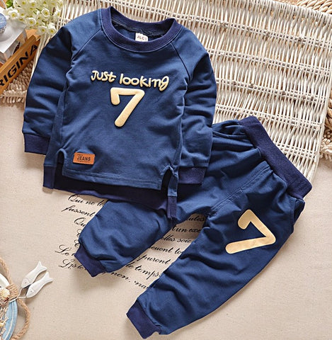 Baby Boys Sports Sweaters+Pants - Sports Warm Suit