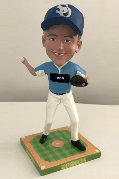 Baseball Player Throwing Bobblehead
