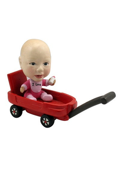 Baby in Red Wagon Bobblehead