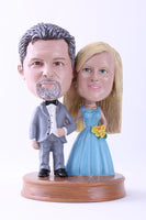 Wedding Couple 6 (Bride and Groom) Bobblehead