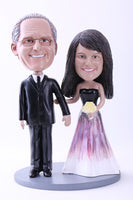 Father Walking Daughter Down The Aisle 2 At Wedding Bobblehead