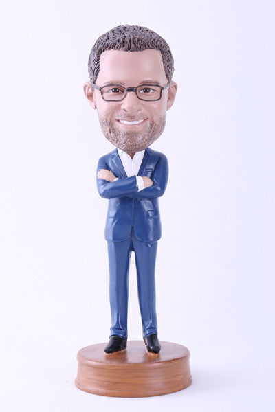 Guy in Slick Blue Suit Bobblehead