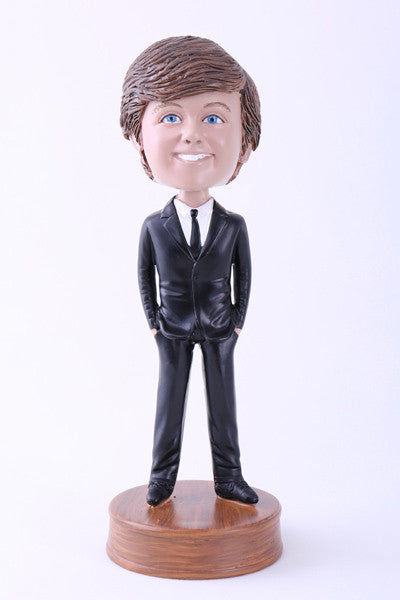 Guy in Slick Black Suit Bobblehead