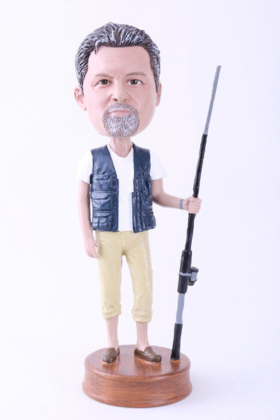 "Going Fishing Bobblehead (9"" Tall)"