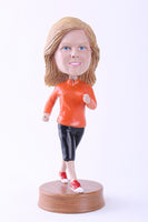 Female Jogger Bobblehead