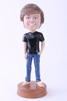 Casual Guy in Blue Jeans Bobblehead